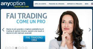 AnyOption Opzioni Binarie: Bonus e Vantaggi