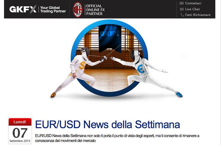 Notizie Calendario Economico EUR USD 7 Settembre 2015