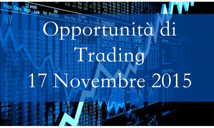 Opportunità di Trading 17 Novembre 2015