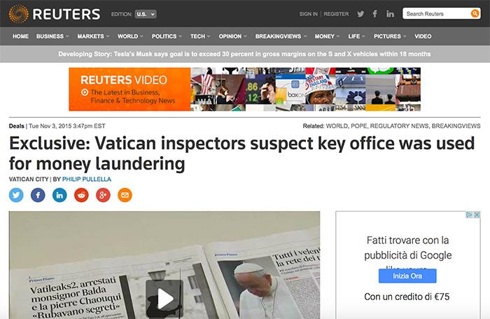 Al Vaticano: Sospetti di Riciclaggio e Insider Trading?