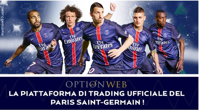 Optionweb: Broker Opzioni Binarie Sponsor Paris Saint Germain