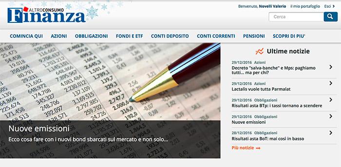 Altroconsumo finanza e abbonamento for Area clienti 3 servizi in abbonamento