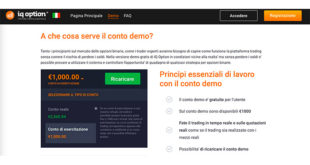 IQ Option: Conto Demo e Novità Trading in CFD Forex