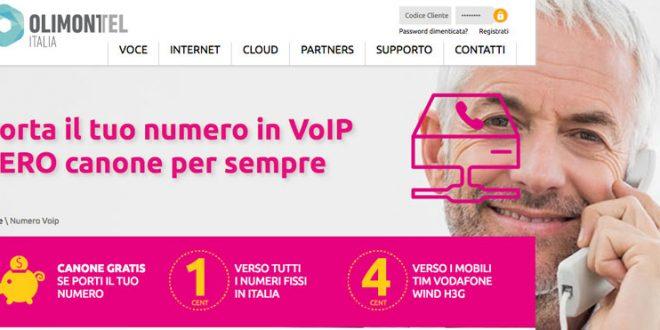 OlimonTel Numero VoIP elimina fattura e canone